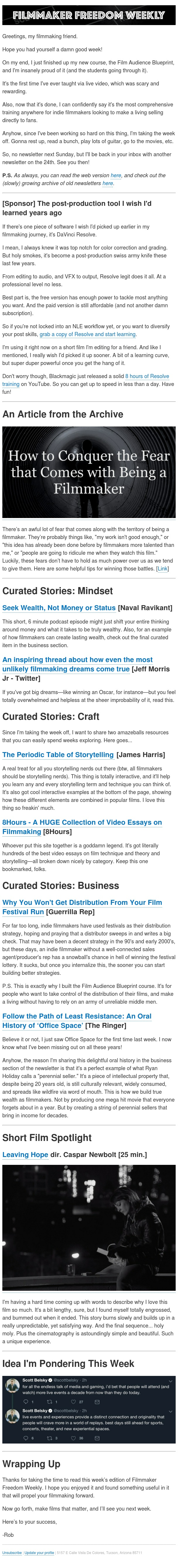 [Newsletter] Periodic table of storytelling (amazing resource)