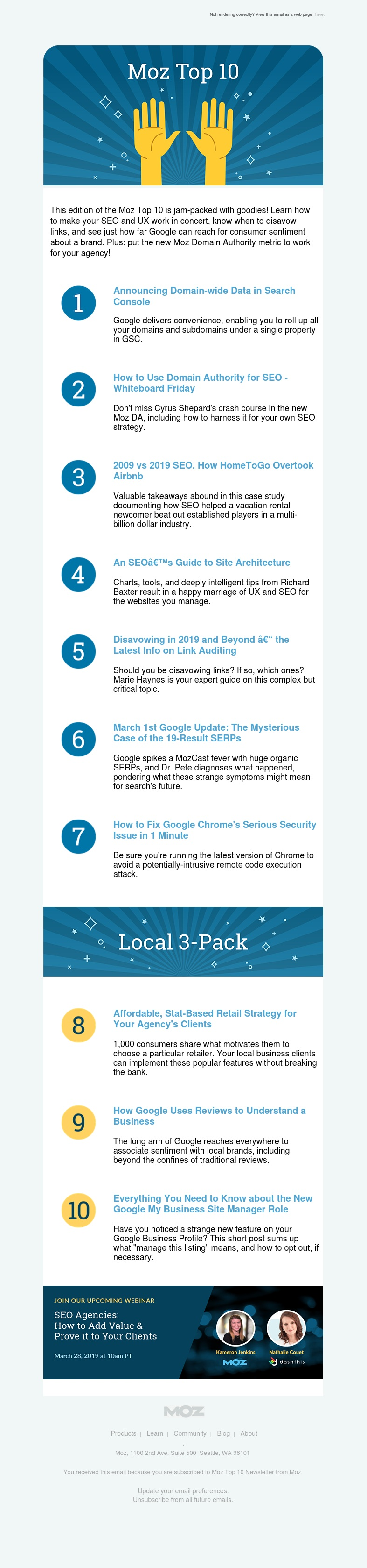 The New Moz Domain Authority + The March 1st Google Update