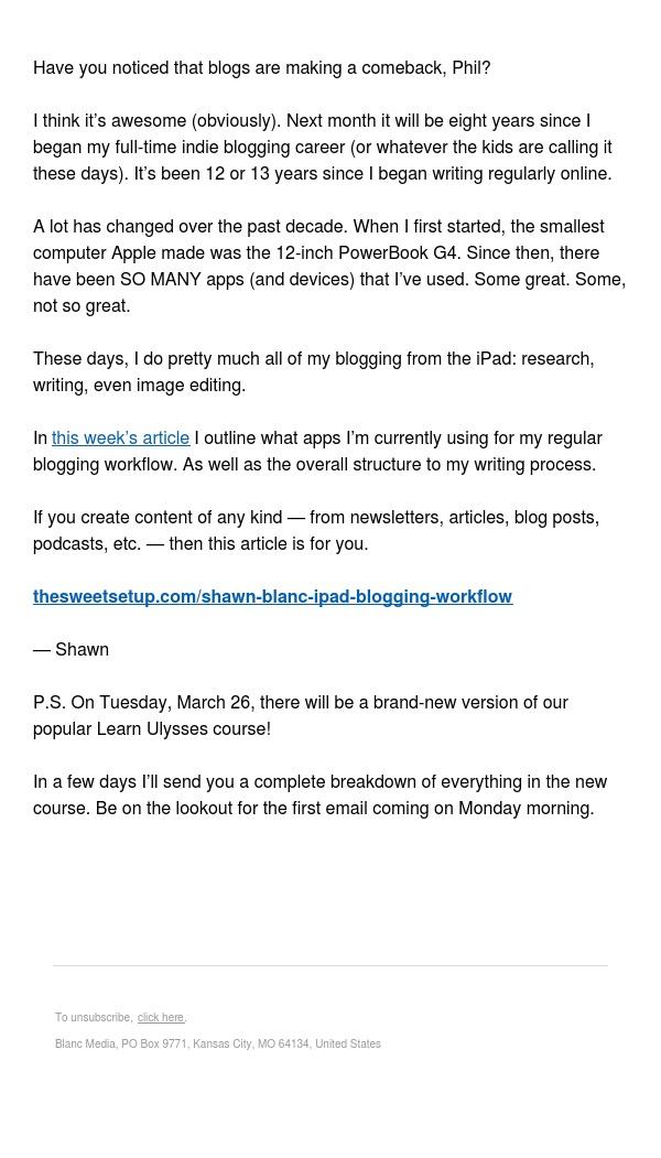 My iPad Blogging Workflow