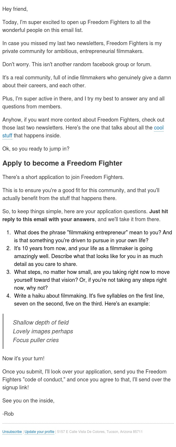 Become a Freedom Fighter 😎