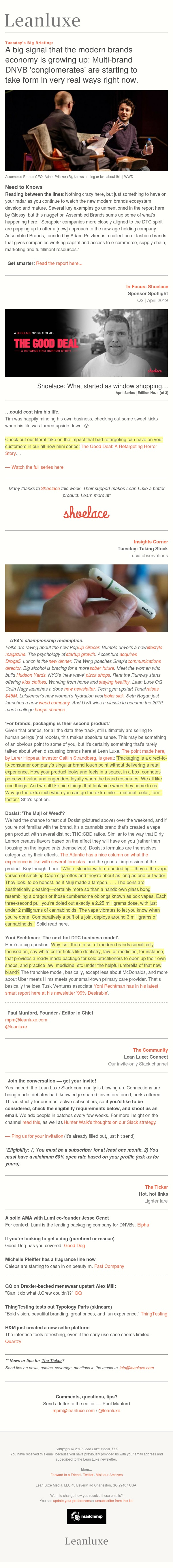 (Late) Debrief No. 286: The rise of the DNVB conglomerates — Is Dosist the 'Muji of weed'?
