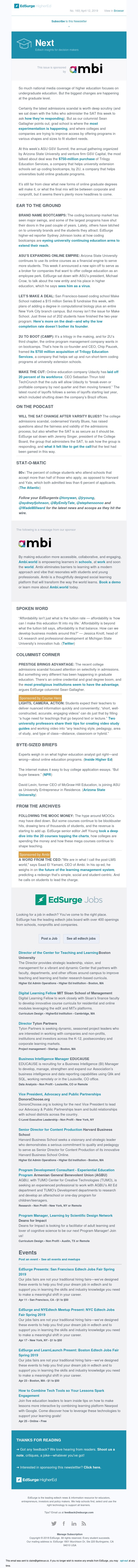 Next 160: ASU's innovation 'virus'; Bootcamps turn to university extension programs