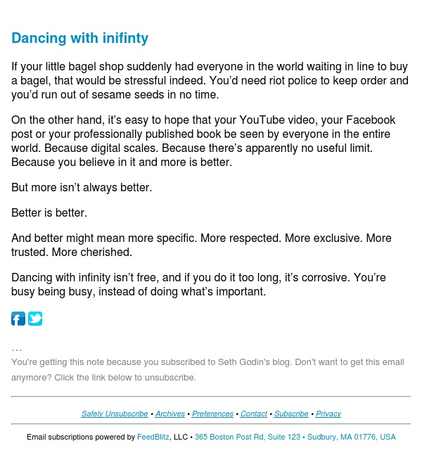 Seth's Blog : Dancing with inifinty