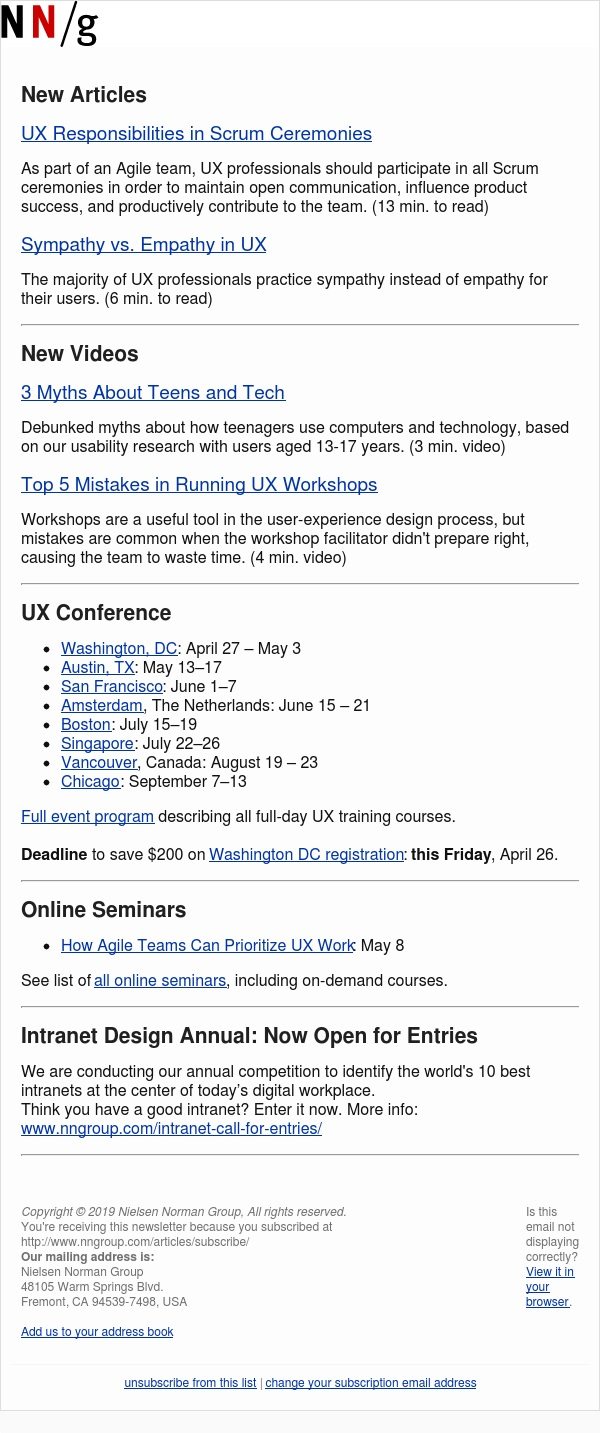 UX in Scrum | Sympathy vs. Empathy | Teens and Tech | UX Workshop Mistakes