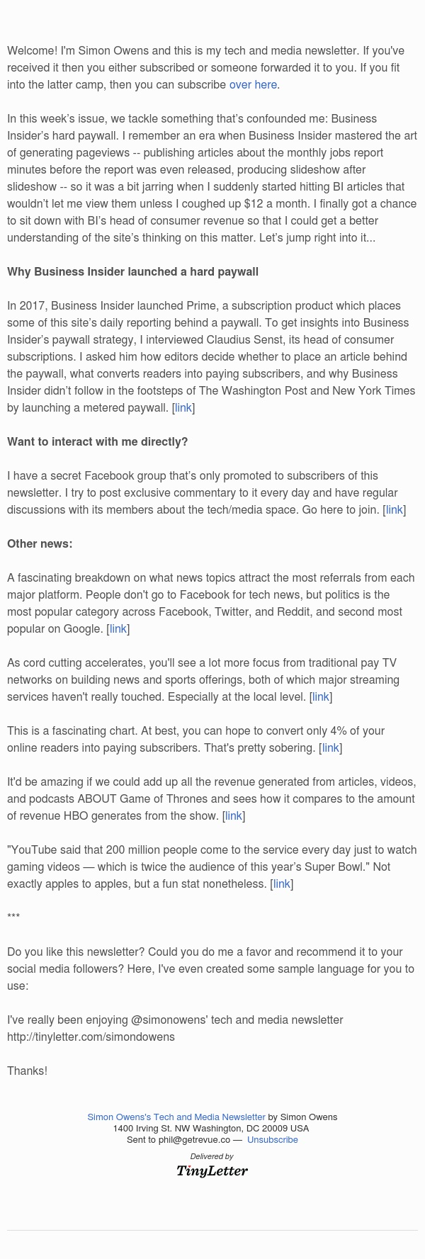 Why Business Insider launched a hard paywall