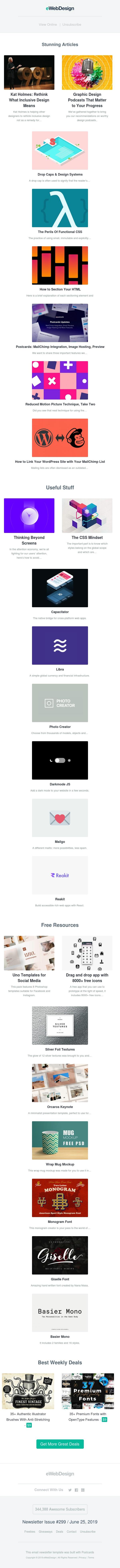 Inclusive Design, Graphic Design Podcasts, Functional CSS, Orcaros Keynote, Libra, Photo Creator, Darkmode JS, Mailgo