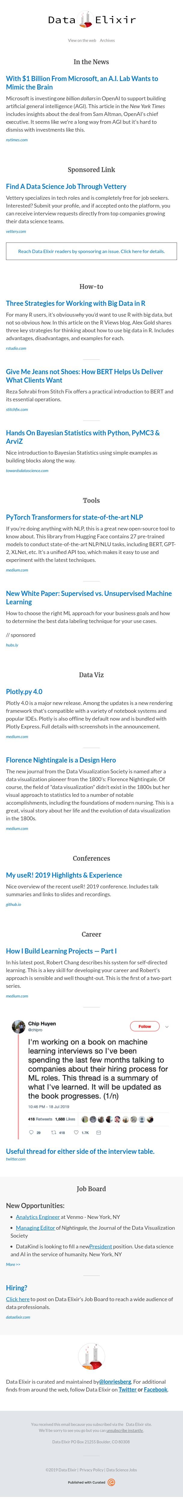 Data Elixir - Issue 243