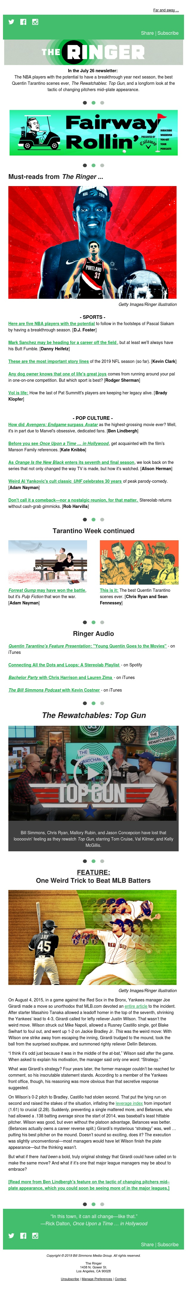 Once Upon a Time ... on The Ringer Dot Com