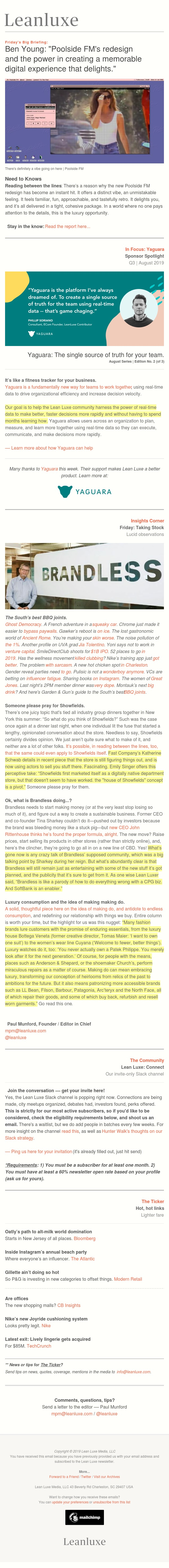The Debrief No. 215: Poolside FM's redesign and the power in creating a digital experience that delights — Someone please pray for Showfields.