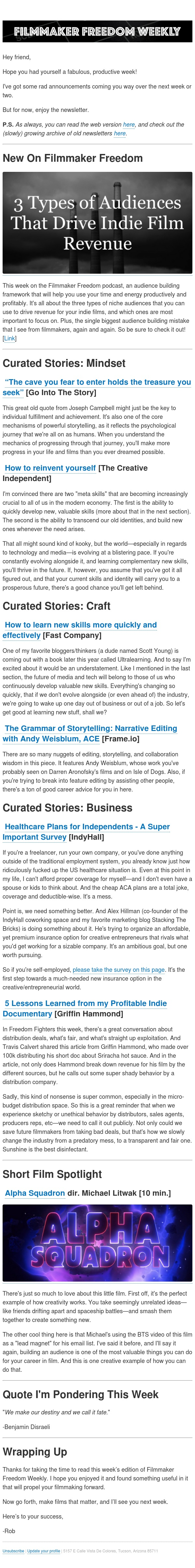 [Newsletter] Lessons learned from a profitable short doc