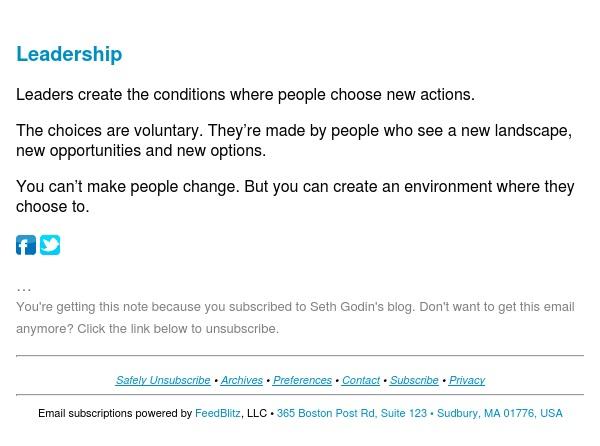 Seth's Blog : Leadership