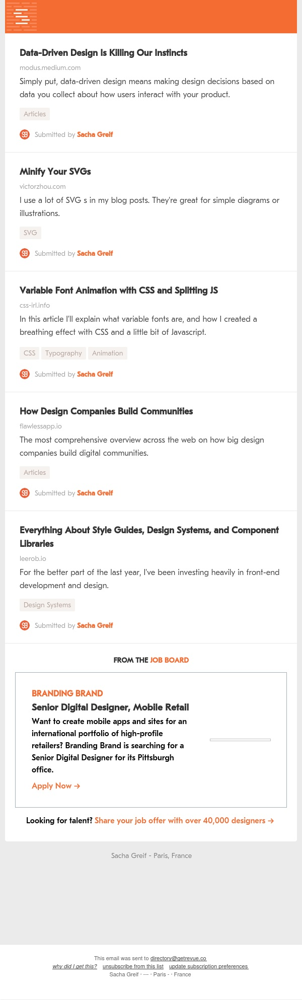 Data-Driven Design, Minified SVGs, Variable Fonts, Design Communities, Style Guides