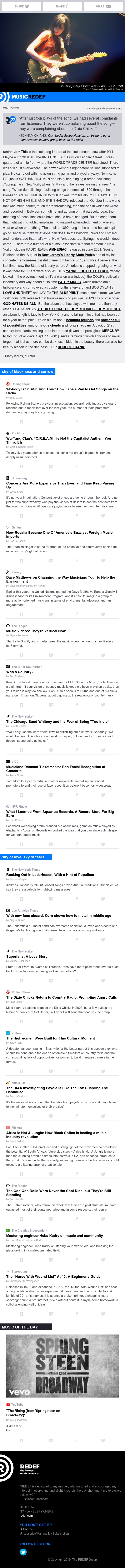 jason hirschhorn's @MusicREDEF: 09/11/2019 - Springtime in New York, Payola Persists, Wu-Tang Clan, Rosalía, Concert Ticket Prices...
