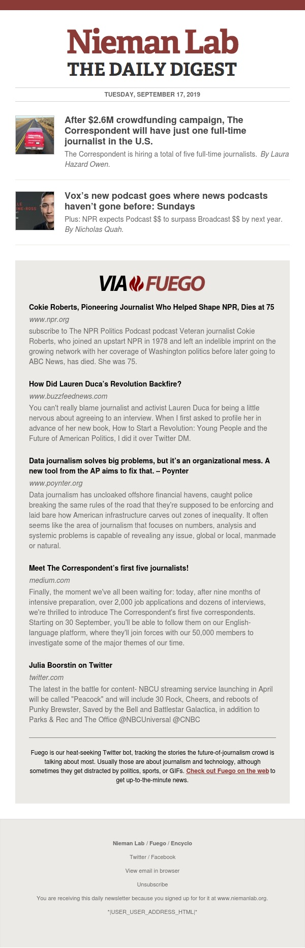 After $2.6M crowdfunding campaign, The Correspondent will have just one full-time journalist in the U.S.: The latest from Nieman Lab