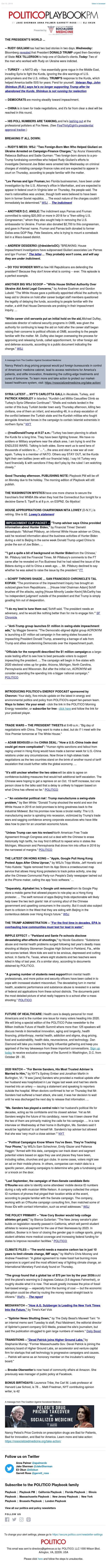 Playbook PM: Trump's world of political pain