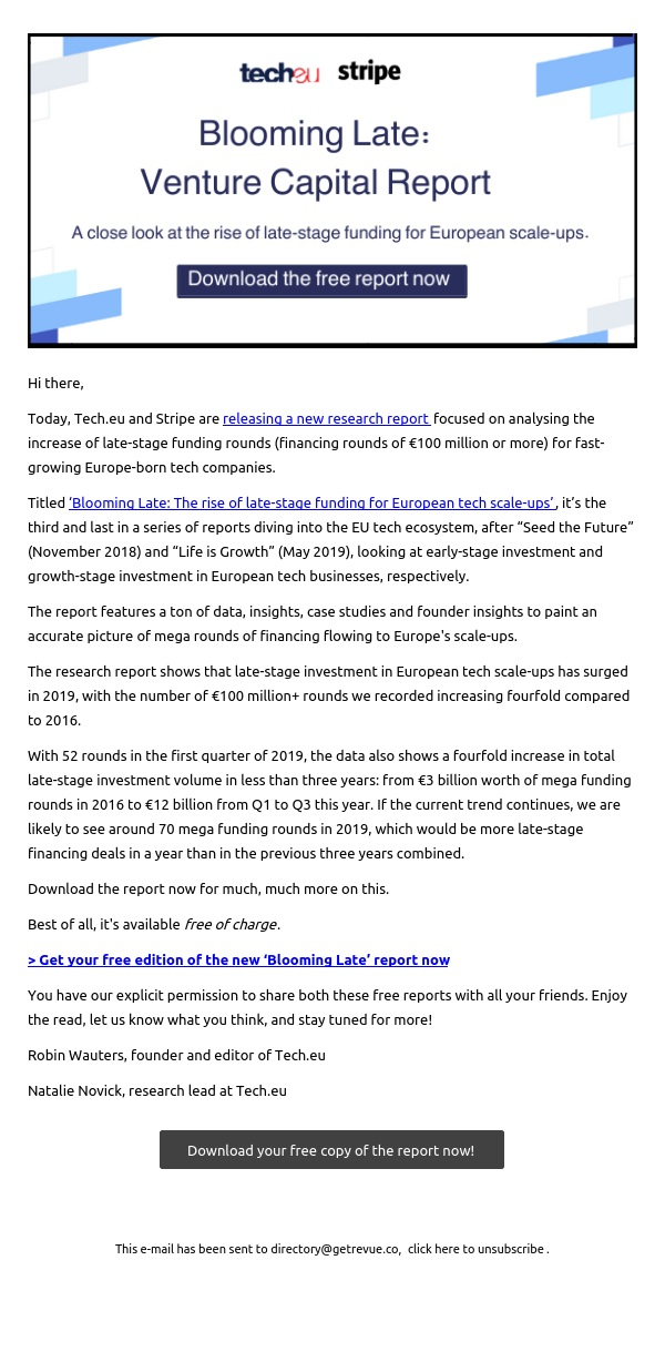 Blooming Late: The rise of late-stage funding for European tech scale-ups (report)