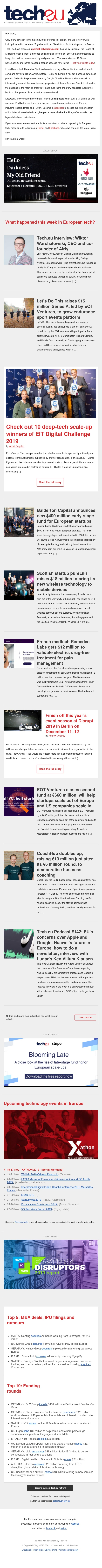Tech.eu Newsletter #311: OLX pours $400 million in FCG, Balderton and EQT unveil big new funds, Voi nabs $85 million, Prosus tries to buy Just Eat
