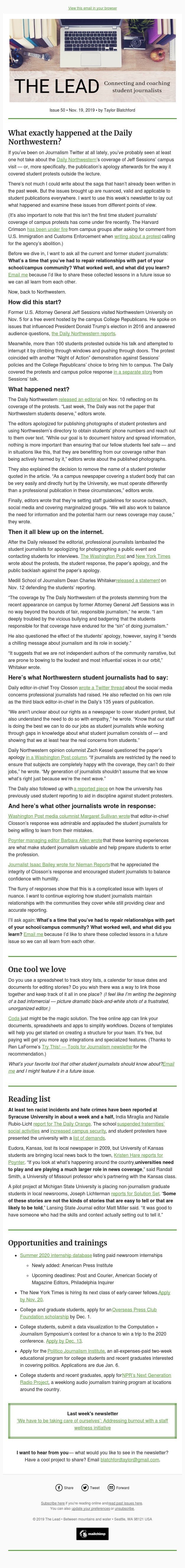 What exactly happened at the Daily Northwestern?