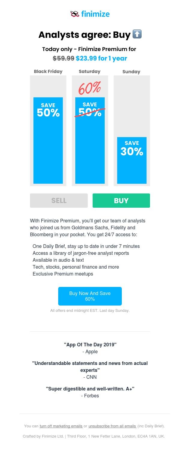 ⚡️ 60% off Finimize Premium. Last day.