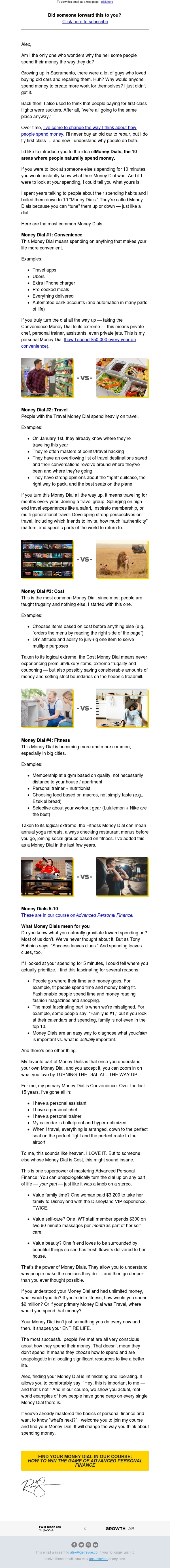 Money Dials: why you spend the way you do