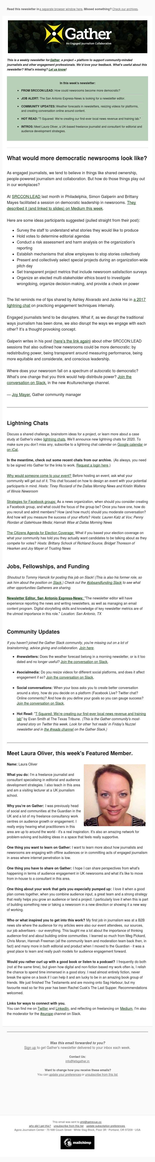 Gather: Ways to build more democratic newsrooms