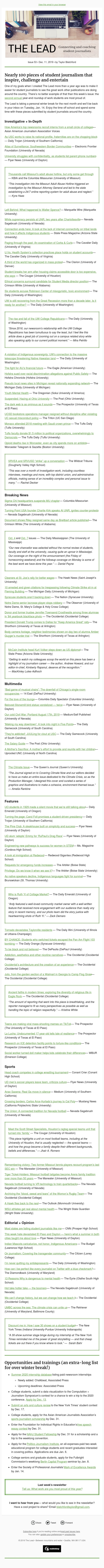 Nearly 100 pieces of student journalism that inspire, challenge and entertain