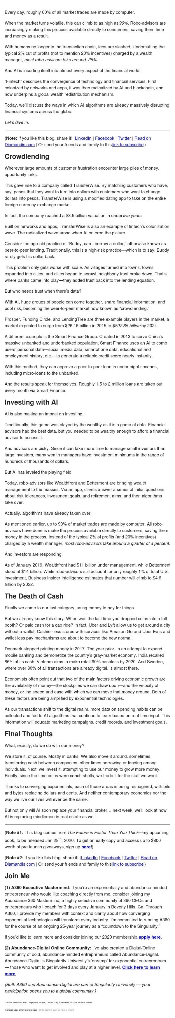 Future of Money - AI Investors, Death of Cash & the Crowd...