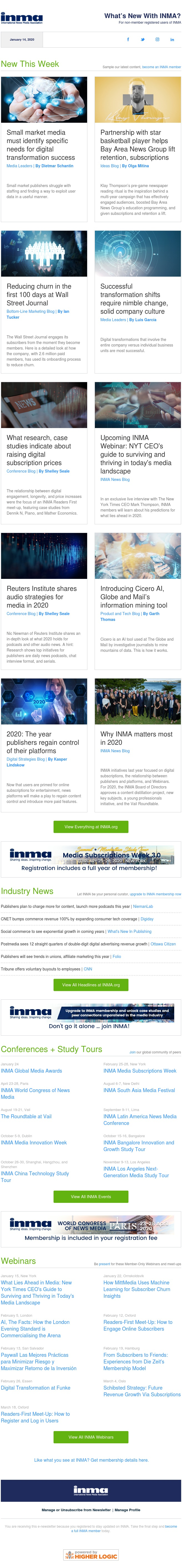 What's new at INMA: Digital transformation for small markets