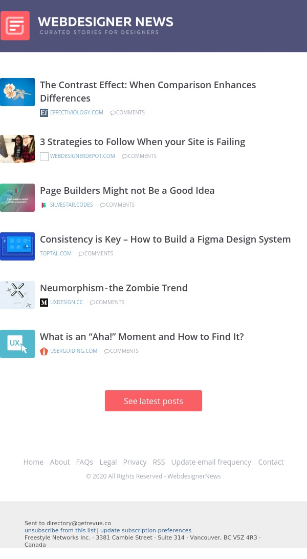 ✏ The Contrast Effect, Strategies for Failing Sites, Making a Figma Design System, and more…