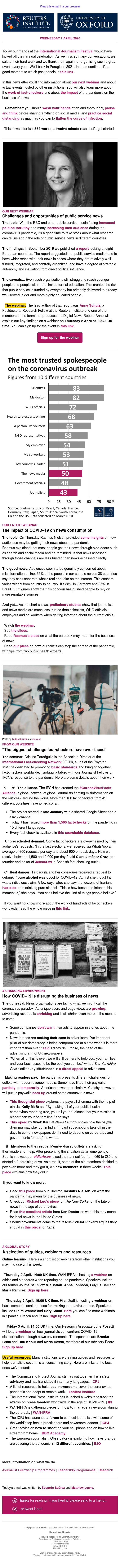 😷 The biggest challenge fact-checkers have ever faced