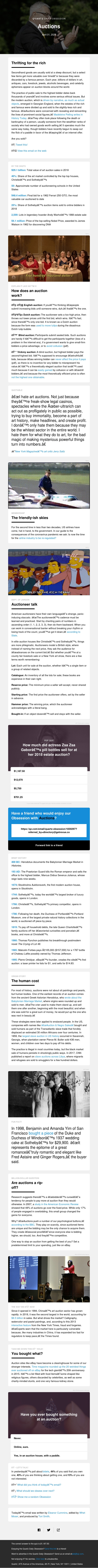 Auctions: How the other half bids