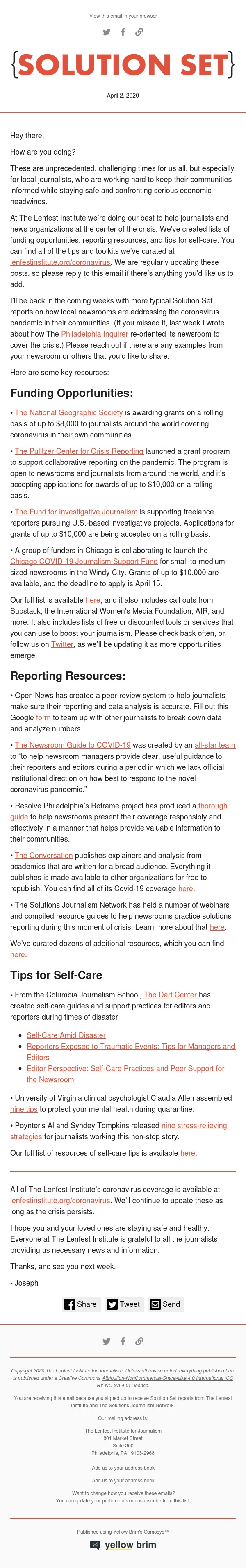 Solution Set: Resources for local journalists covering coronavirus