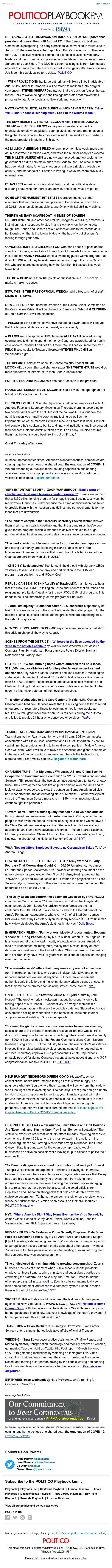 Playbook PM: The new economic reality