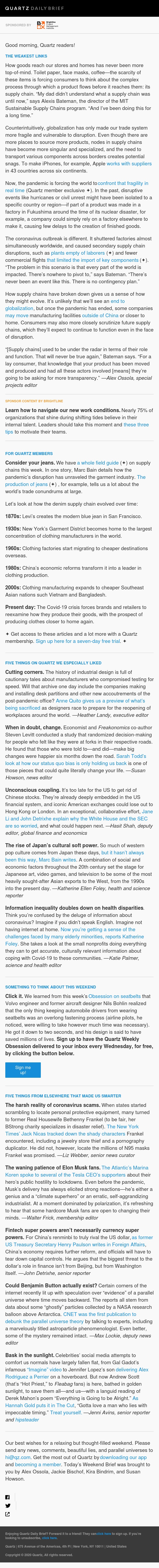 Weekend edition—Unraveling supply chains, the science of change, Japan's cultural soft power