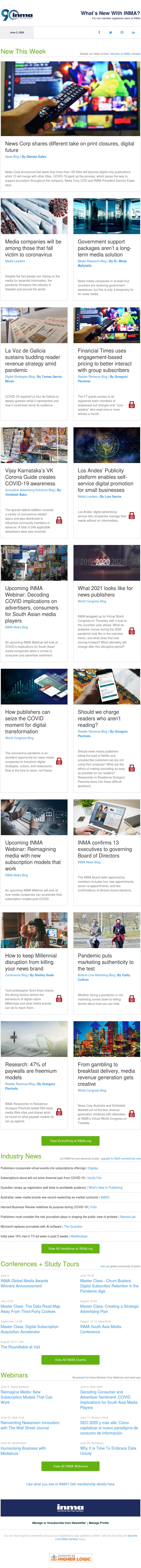 What's new at INMA: News Corp shares different take on print, digital decisions