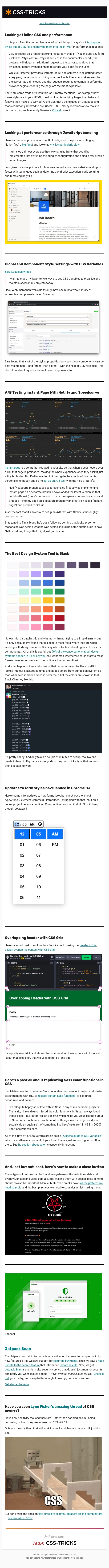 📝 [CSS-Tricks] 202: How to Improve Site Performance & Tricks for Using CSS variables