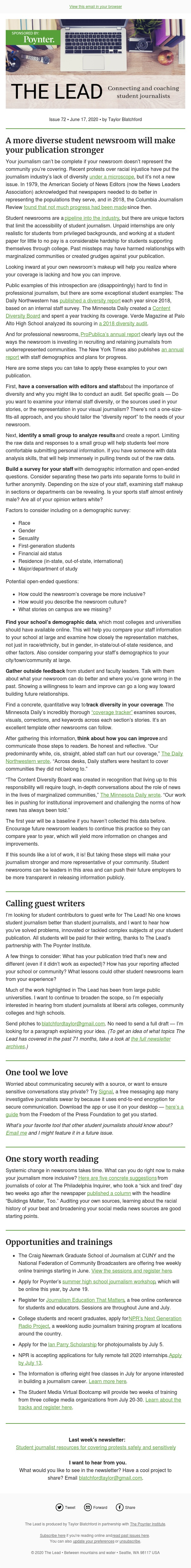 A more diverse student newsroom will make your publication stronger