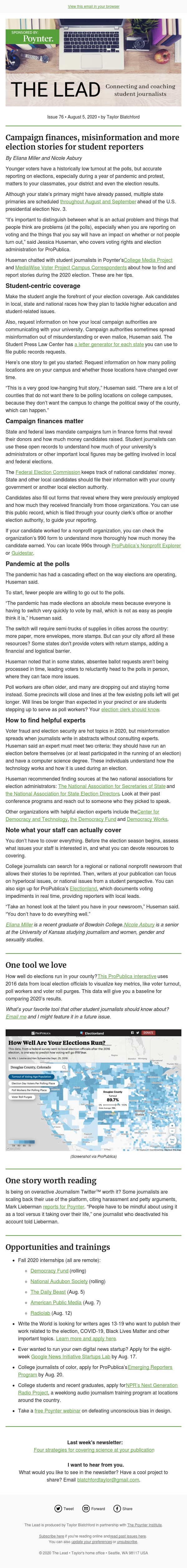 Election resources for student journalists, from campaign finances to misinformation