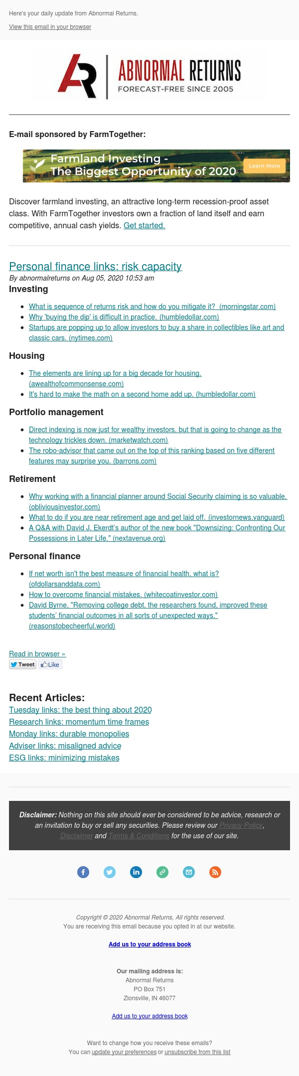 📈📉Posts from Abnormal Returns for 08/05/2020