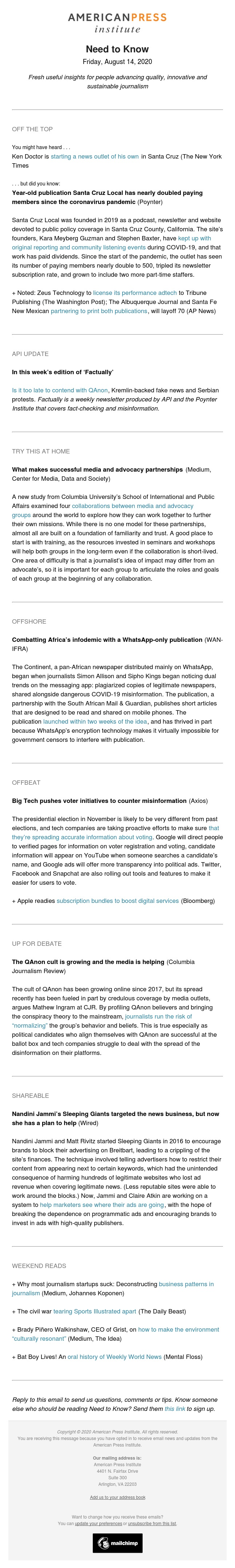 Need to Know: How journalism startups fail, how to handle QAnon conspiracy theorists, and can journalists partner with advocacy groups