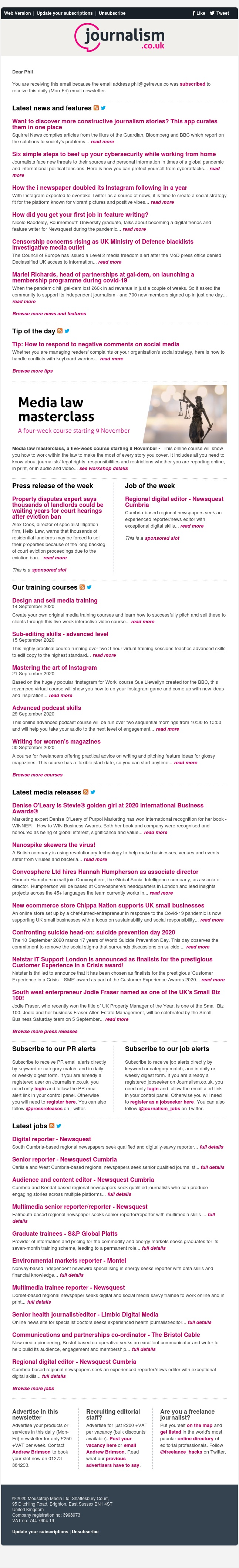 Journalism news: Want to discover more constructive journalism stories? This app curates them in one place | 22 jobs