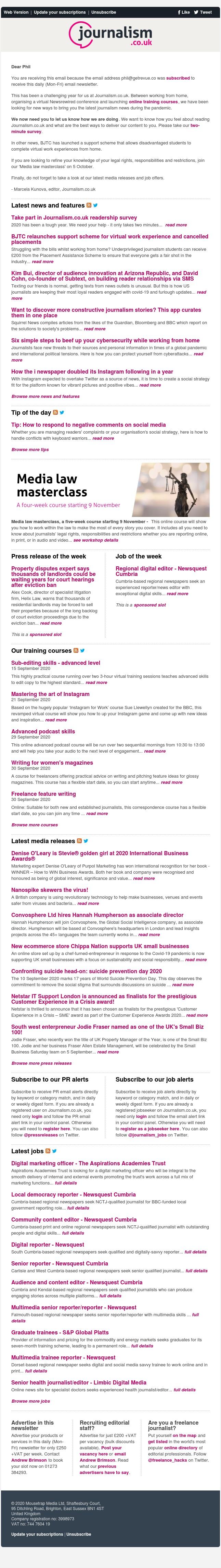 Journalism news: Take part in Journalism.co.uk readership survey   18 jobs