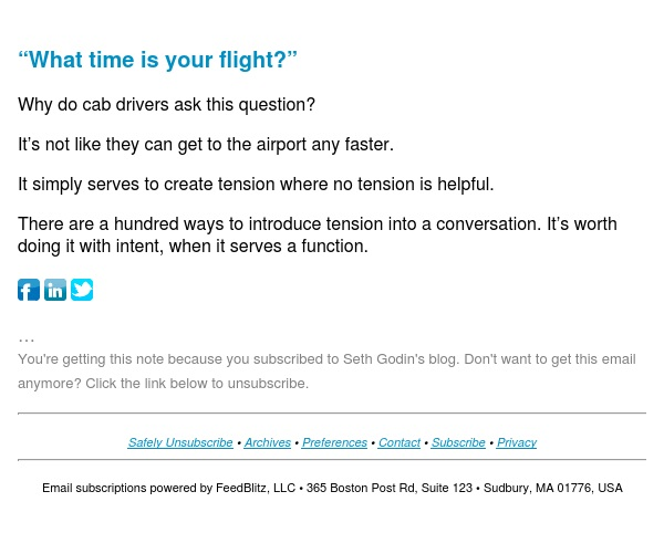 """Seth's Blog : """"What time is your flight?"""""""