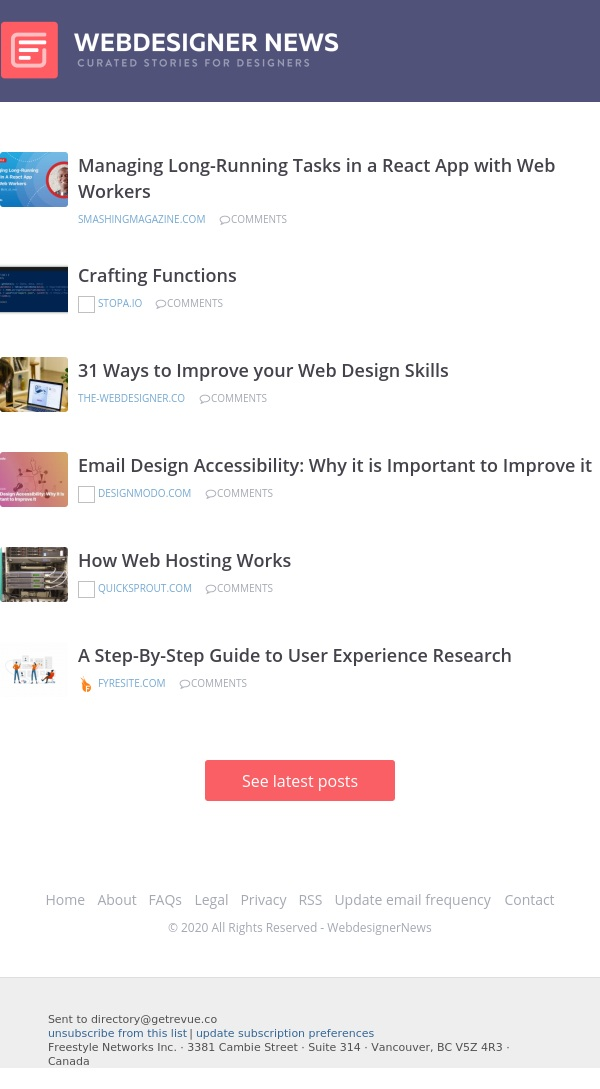 ✏ How Web Hosting Works, Email Design Accessibility, Crafting Functions, and more...