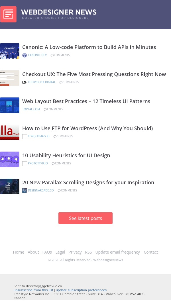 ✏ 12 Timeless UI Patterns, Checkout UX, How to Use FTP for WordPress, and more...