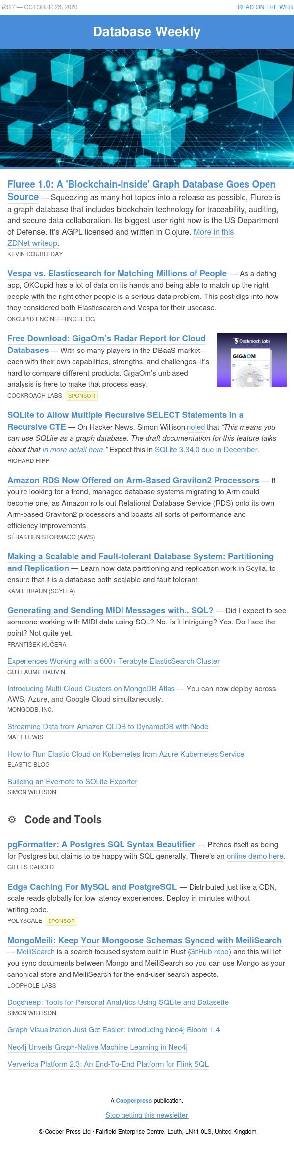 Blockchain graph databases, sending MIDI with SQL, and SQLite's graph future