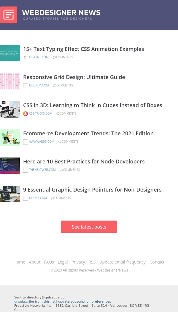 ✏ Best Practices for Node Developers, CSS in 3D, Ecommerce Development Trends, and more...