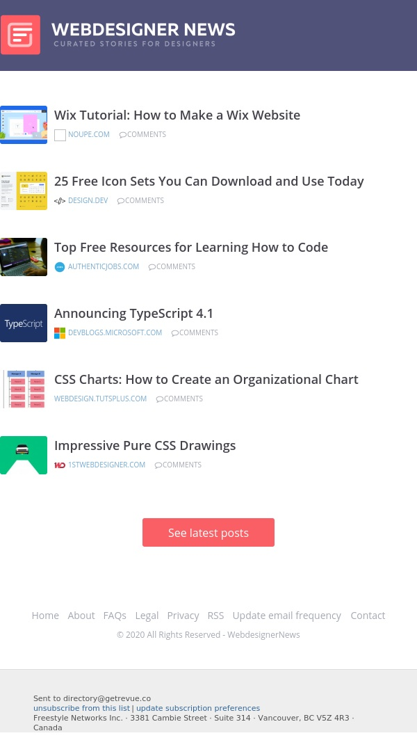 ✏ Announcing TypeScript 4.1, How to Make a Wix Website, 25 Free Icon Sets, and more...