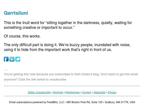 Seth's Blog : Qarrtsiluni