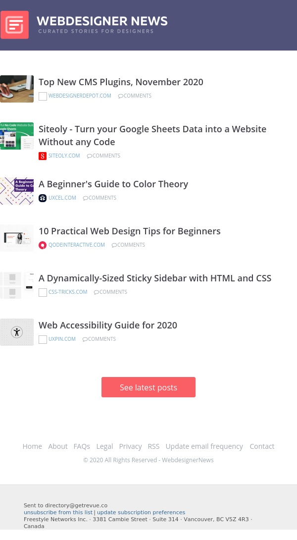 ✏ Top New CMS Plugins, Web Accessibility Guide, 10 Practical Web Design Tips, and more...